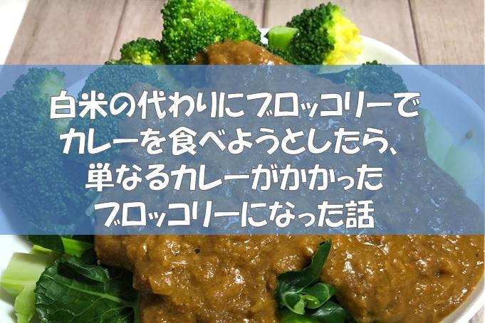 白米の代わりにブロッコリーでカレーを食べようとしたら、単なるカレーがかかったブロッコリーになった話